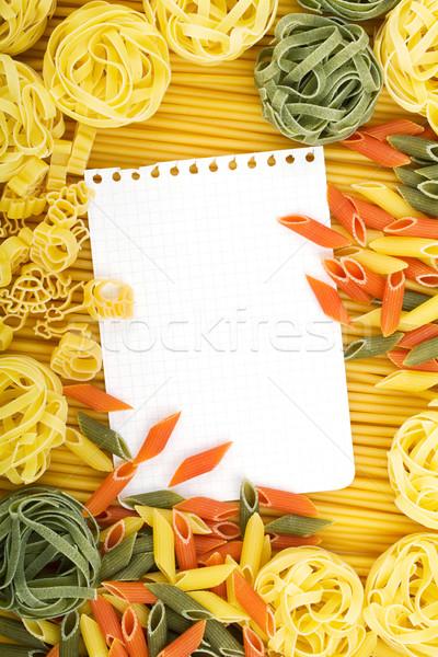 Levélpapír olasz tészta különböző étel levél Stock fotó © karandaev