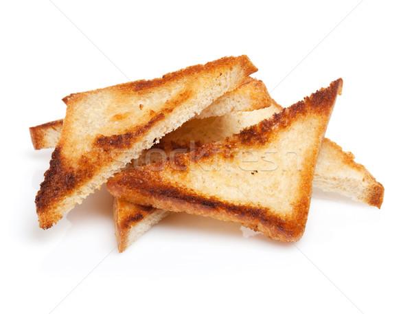 Grillé pain tranches isolé blanche texture Photo stock © karandaev