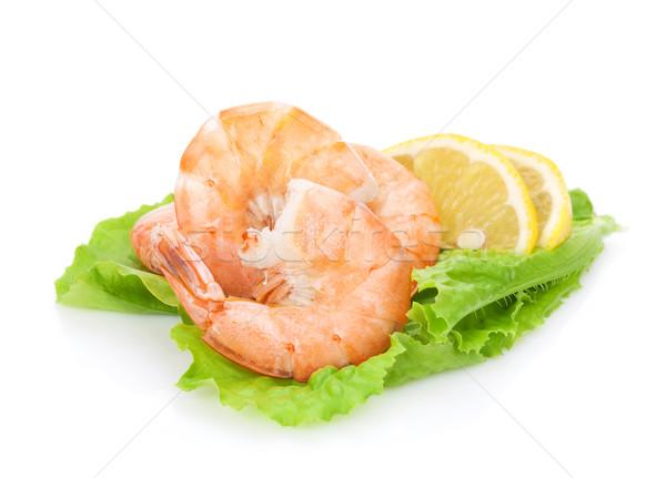 Cuit citron salade laisse isolé blanche Photo stock © karandaev