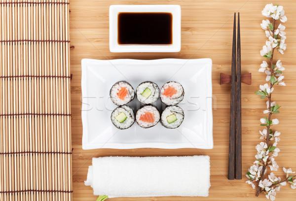 寿司 マキ セット 新鮮な 桜 支店 ストックフォト © karandaev
