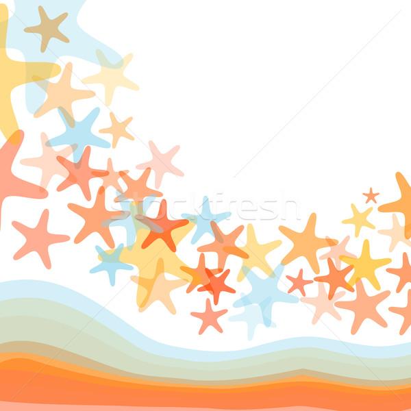 Colorful sea starfish illustration Stock photo © karandaev