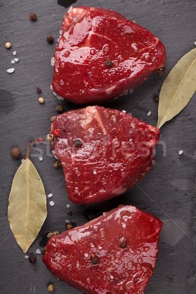 сырой филе специи каменные совета Сток-фото © karandaev