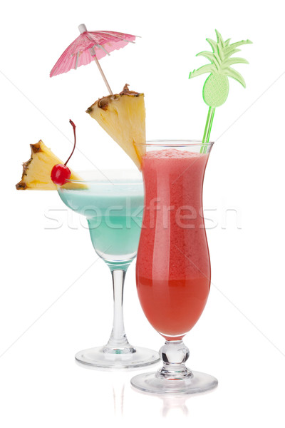 Two tropical cocktails Stock photo © karandaev
