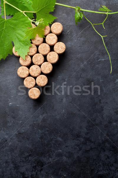 şarap üzüm biçim asma taş tablo Stok fotoğraf © karandaev