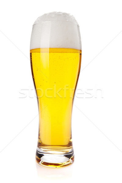Lagerbier Bier Glas isoliert weiß Hintergrund Stock foto © karandaev