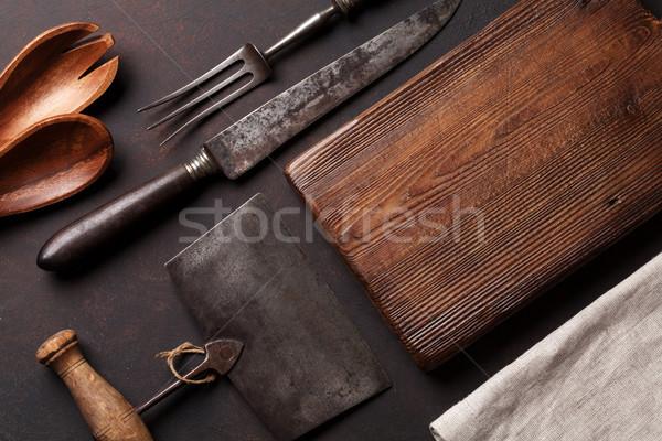 古い ヴィンテージ キッチン 石 表 ストックフォト © karandaev