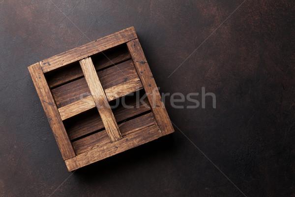 Old wooden box Stock photo © karandaev