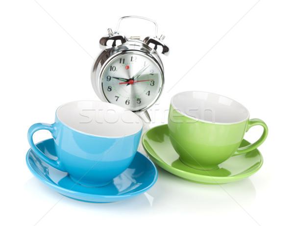 Manana café tiempo aislado blanco alimentos Foto stock © karandaev