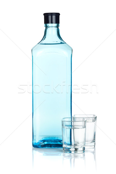Gin bottle and two shots Stock photo © karandaev