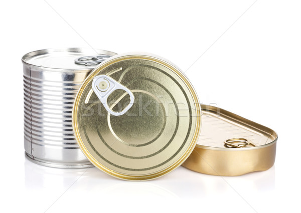 Tin cans Stock photo © karandaev