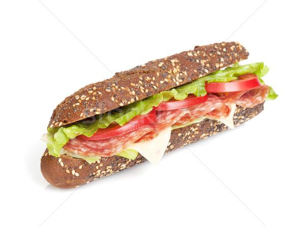 Fresco sanduíche carne legumes isolado branco Foto stock © karandaev