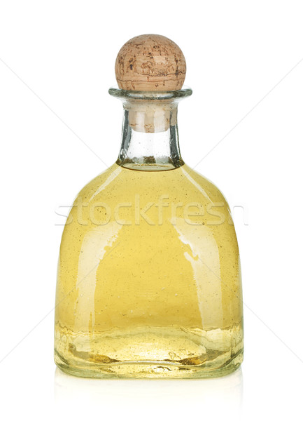 ボトル 金 テキーラ 孤立した 白 ガラス ストックフォト © karandaev