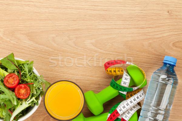 Fita métrica alimentação saudável fitness saúde Foto stock © karandaev