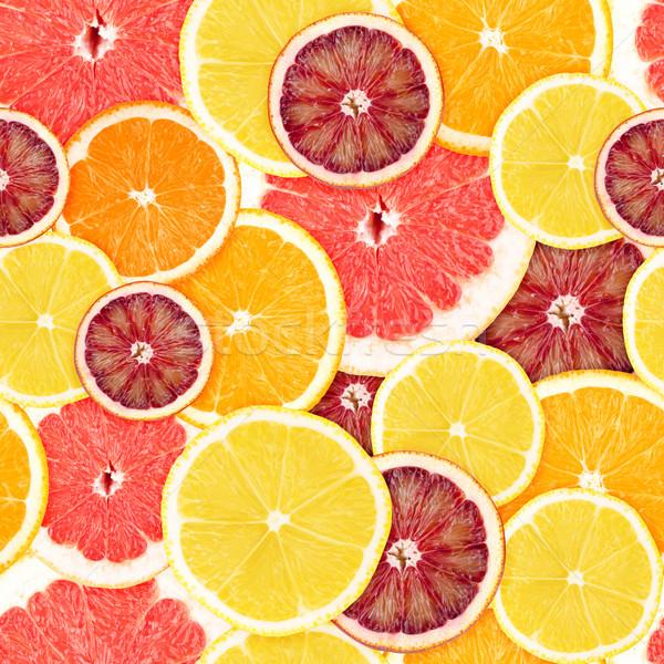 Citrus végtelenített grapefruit narancs citrom textúra Stock fotó © karandaev