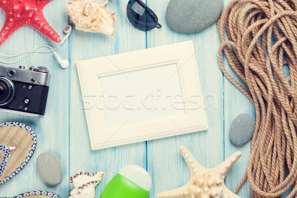 Travel and vacation photo frame and items Stock photo © karandaev