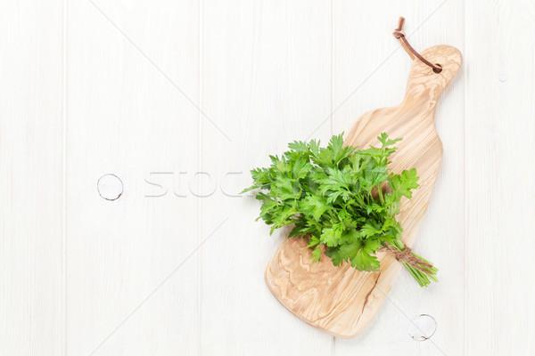 Fresco jardim salsa topo ver Foto stock © karandaev