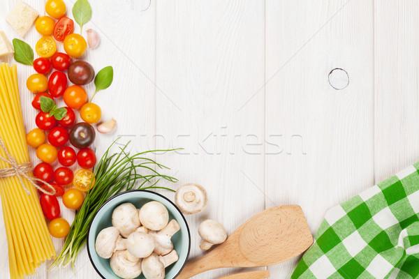 Сток-фото: итальянской · кухни · приготовления · Ингредиенты · пасты · овощей · специи