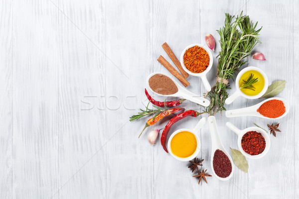 Stock photo: Herbs, condiments and spices