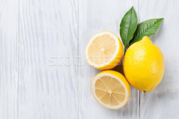 Fresh ripe lemons Stock photo © karandaev