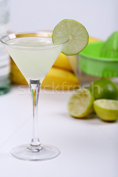 Alcohol cocktail with lime juice Stock photo © karandaev