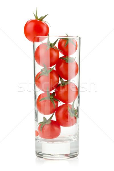 Pomidorki szkła koktajl odizolowany biały żywności Zdjęcia stock © karandaev
