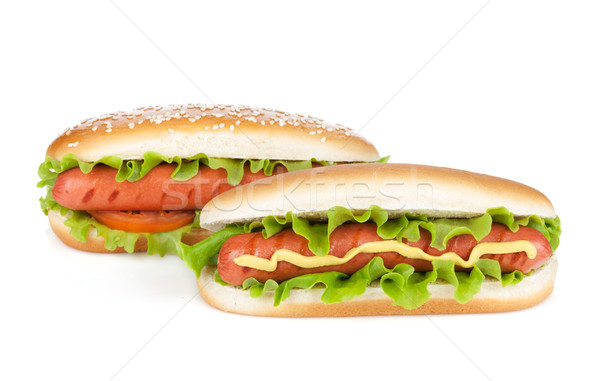 Two hot dogs with various ingredients Stock photo © karandaev