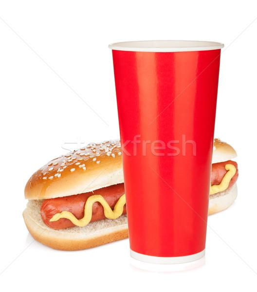 Fast food drink and hot dog Stock photo © karandaev