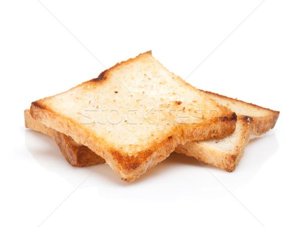 Geroosterd brood geïsoleerd witte textuur Stockfoto © karandaev