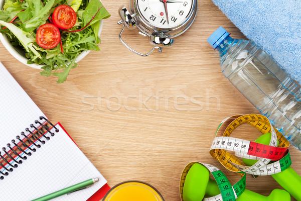 Foto stock: Fita · métrica · alimentação · saudável · fitness · saúde