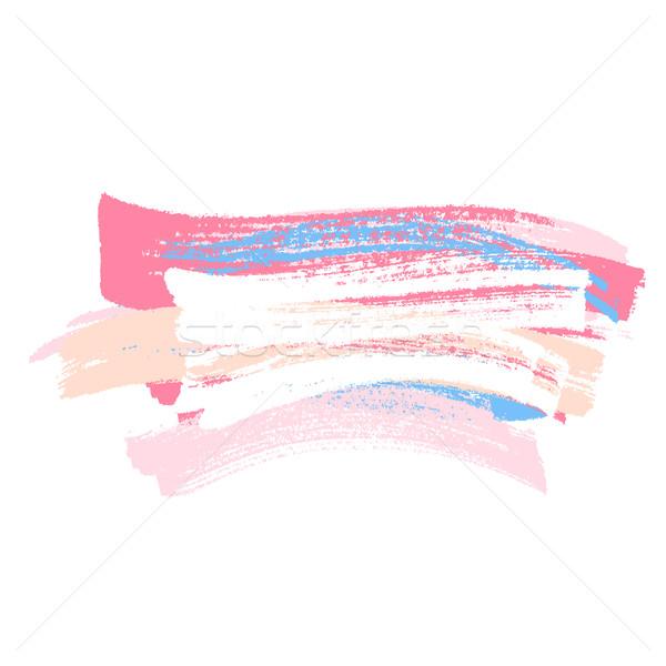 Fırça boya renkli soyut mavi yağ renk Stok fotoğraf © karandaev
