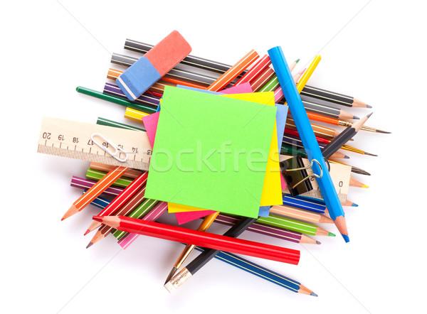 学校 事務用品 孤立した 白 紙 ストックフォト © karandaev
