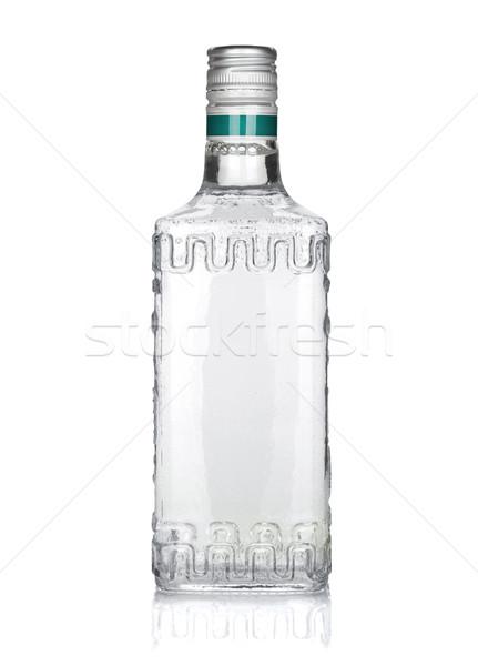 ボトル 銀 テキーラ 孤立した 白 背景 ストックフォト © karandaev