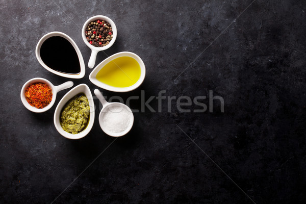 Condiments and spices Stock photo © karandaev