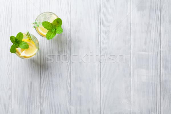 Lemonade glasses Stock photo © karandaev