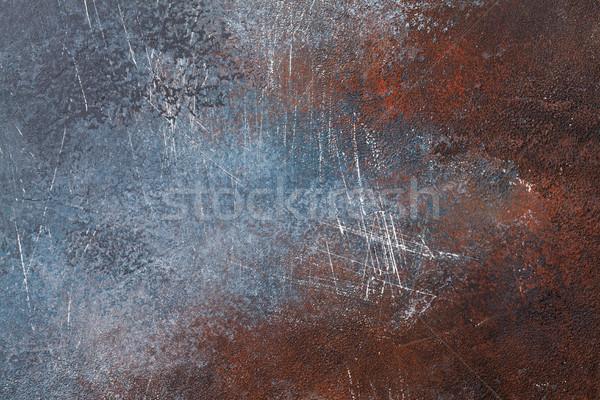 Paslı metal doku eski doku soyut dizayn Stok fotoğraf © karandaev