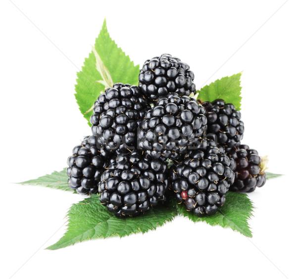 Ripe blackberry fruits Stock photo © karandaev