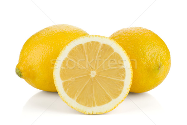 Two and half ripe lemons Stock photo © karandaev