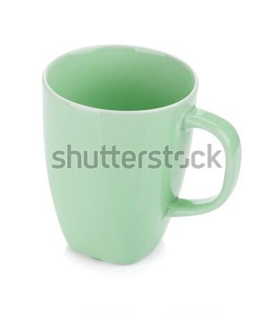 薄緑 コーヒーカップ 孤立した 白 コーヒー デザイン ストックフォト © karandaev