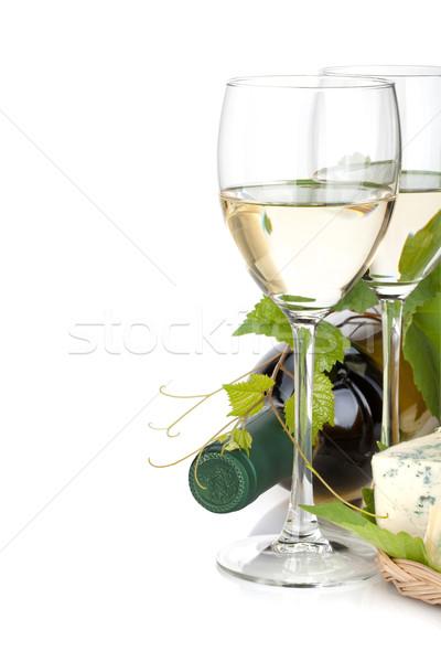White wine and cheese Stock photo © karandaev