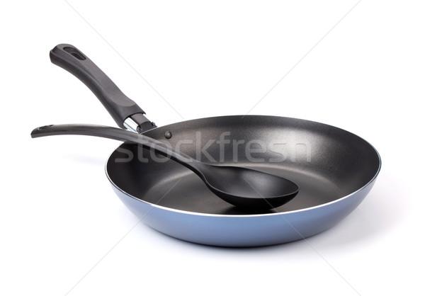 Frying pan with utensil Stock photo © karandaev
