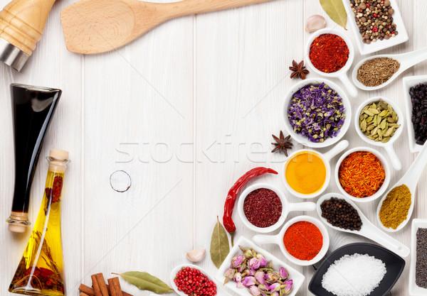 Especias blanco superior Foto stock © karandaev