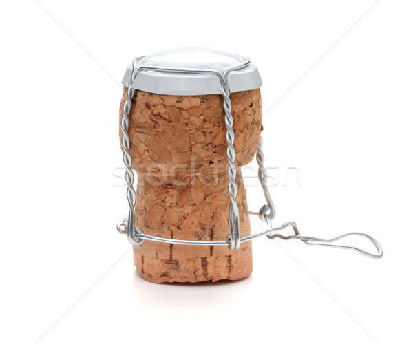 White champagne cork Stock photo © karandaev