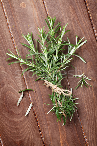 Fresh garden rosemary Stock photo © karandaev