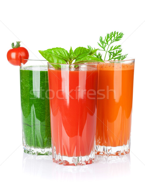 Foto stock: Tomates · pepino · cenoura · isolado