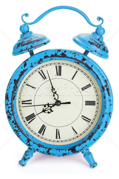 Vintage sveglia isolato bianco clock sfondo Foto d'archivio © karandaev