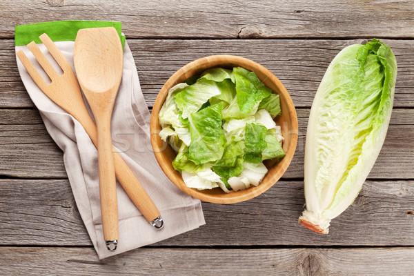 Fresh healthy romaine lettuce salad Stock photo © karandaev