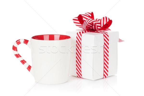 Christmas gift box and mulled wine cup Stock photo © karandaev