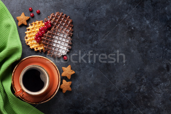Stockfoto: Koffie · snoep · top · exemplaar · ruimte · voedsel