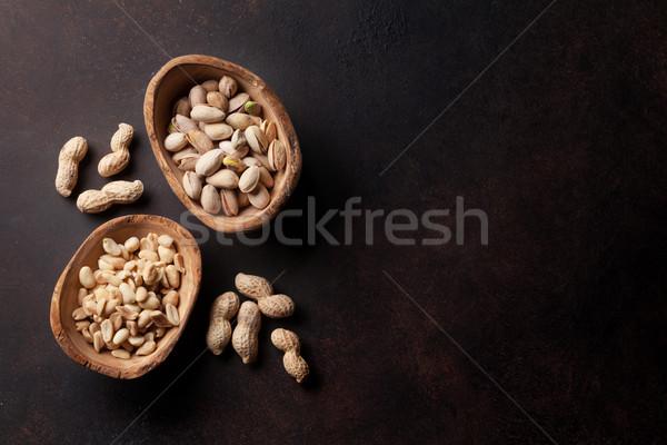различный орехи каменные таблице Top мнение Сток-фото © karandaev