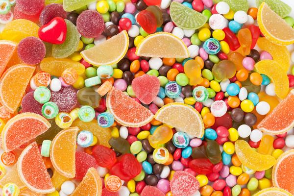 Színes cukorkák zselé étel születésnap csoport Stock fotó © karandaev
